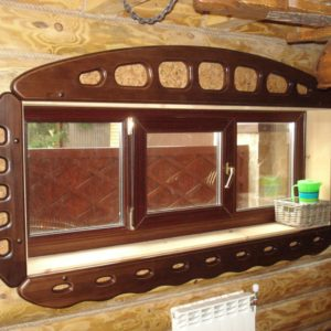 окна в баню деревянные