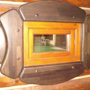 отделка окна в бане