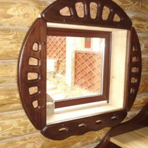 Окладка окон и дверей в бане_5