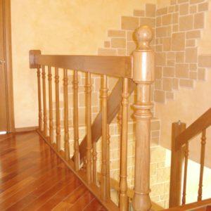 деревянная лестница на больцах10