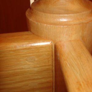 деревянная лестница на больцах12