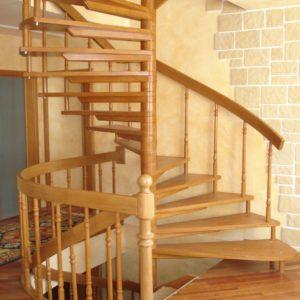 деревянная лестница на больцах17