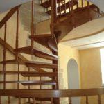 деревянная лестница на больцах20