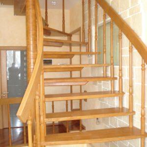 деревянная лестница на больцах9