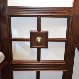 потолочные балки и стеновые панели из дерева8