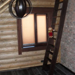 50_лестница дерево и стекло_1