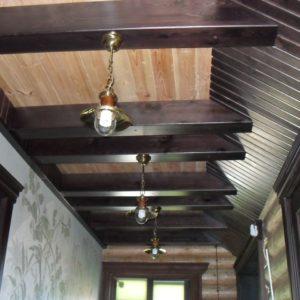 50_лестница дерево и стекло_2