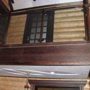 50_лестница дерево и стекло_20