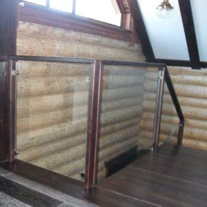 50_лестница дерево и стекло_3