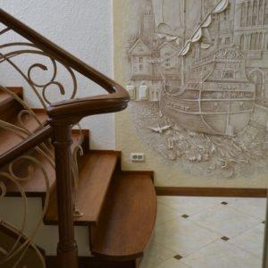 82_Дубовая лестница и художественная ковка_10