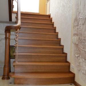 82_Дубовая лестница и художественная ковка_8