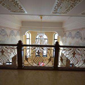 97_ шикарная лестница массив с резьбой ручной работы_12