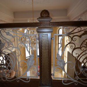 97_ шикарная лестница массив с резьбой ручной работы_13