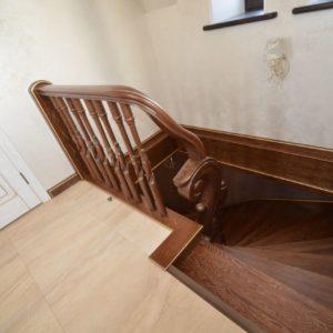 97_ шикарная лестница массив с резьбой ручной работы_15