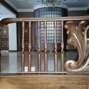 97_ шикарная лестница массив с резьбой ручной работы_2