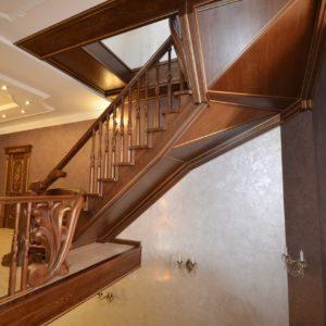 97_ шикарная лестница массив с резьбой ручной работы_22
