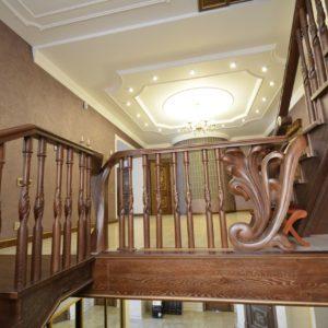 97_ шикарная лестница массив с резьбой ручной работы_23