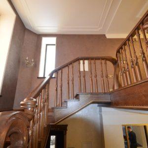 97_ шикарная лестница массив с резьбой ручной работы_25