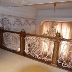 97_ шикарная лестница массив с резьбой ручной работы_35
